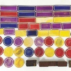Juegos de mesa: COLECCION DE 82 FICHAS DE JUEGO. HUESO TALLADO Y DECORADO A MANO. SIGLO XIX-XX. Lote 190799928