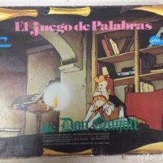 Juegos de mesa: RARO JUEGO DE MESA EL JUEGO DE PALABRAS DE DON QUIJOTE ED CETUS. UNICO EN TODOCOLECCION. Lote 191085182
