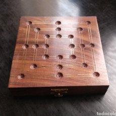 Juegos de mesa: PRECIOSA CAJA EN MADERA DE CALIDAD PARA JUGAR A LAS 6 EN RAYA. Lote 191158425