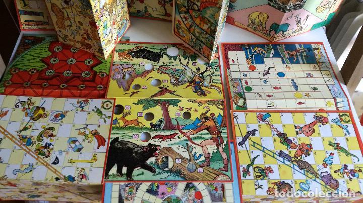 Juegos de mesa: Excelente Lote 23 juegos cartones antiguos Juegos Reunidos Geyper dibujante Kapa - Foto 3 - 192133451