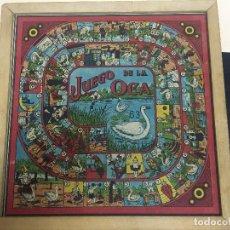 Juegos de mesa: ANTIGUO TABLERO DE JUEGO DE LA OCA Y PARCHIS. Lote 192588002