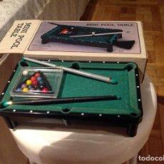 Juegos de mesa: MINI BILLAR CON ACCESORIOS. Lote 192792252