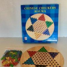 Juegos de mesa: JUEGO DE DAMAS CHINAS CHECKERS PARA 6 TABLERO DE MADERA. Lote 192891720