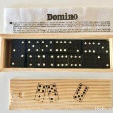 Juegos de mesa: DOMINO 28 PIEZAS Y CAJA DE MADERA TAMAÑO VIAJE. Lote 192892636