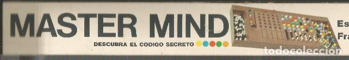 Juegos de mesa: JUEGO DE MESA - SUPER MASTER MIND DE H.H.- AÑO 1976 - Foto 2 - 192913045