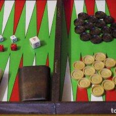 Juegos de mesa: JUEGO DE MESA - BACKGAMON + DAMAS - DOS JUGADORES. Lote 192914440