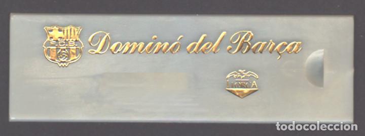 Juegos de mesa: DOMINO DEL F. C. BARCELONA - NUEVO CON ESTUCHE - Foto 3 - 192960883