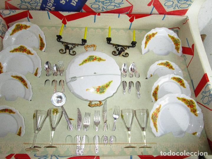 Juegos de mesa: VAJILLA ANTIGUA PLASTICAS SANTA ELENA 2 X1 MENAJE COCINA GRUPO BROTONS IBI ALICANTE - Foto 3 - 193035207