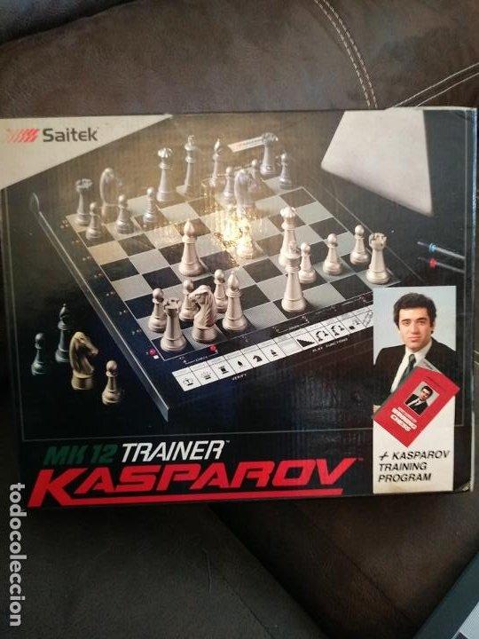 Juegos de mesa: Saitek Kasparov Mk12 Trainer juego de ajedrez ajedrez electrónico Vintage funcionando - Foto 5 - 193330902