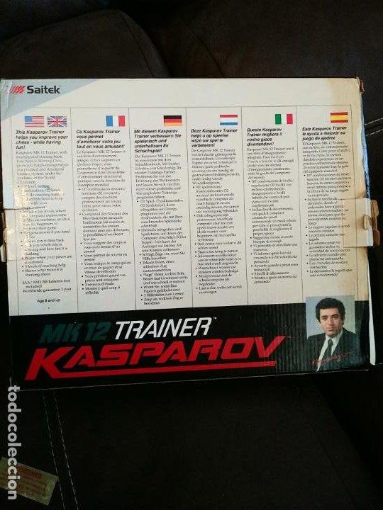 Juegos de mesa: Saitek Kasparov Mk12 Trainer juego de ajedrez ajedrez electrónico Vintage funcionando - Foto 8 - 193330902