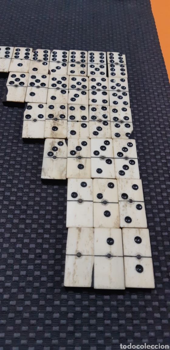 DOMINO EN MINIATURA SXIX (Juguetes - Juegos - Juegos de Mesa)