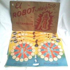 Juegos de mesa: RECAMBIO EL ROBOT MÁGICO, 4 HOJAS DE PREGUNTAS DOBLE CARA, A ESTRENAR. Lote 193638656