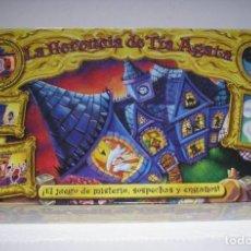 Juegos de mesa: JUEGO DE MESA - LA HERENCIA DE TÍA AGATA - MB HASBRO - 2002 NUEVO PRECINTADO RETRACTILADO SIN ABRIR. Lote 206186955