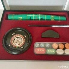 Juegos de mesa: RULETA COMPLETA CON TAPETE FIELTRO, FICHAS - JUEGOS CAYRO EN SU CAJA ORIGINAL. Lote 193786495