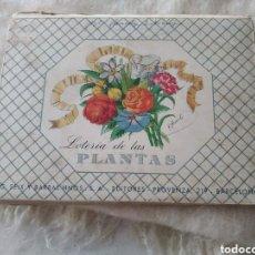 Juegos de mesa: LOTERÍA DE LAS PLANTAS I.G. SEIX BARRAL HNOS, S.A. AÑOS 30-40. Lote 193797573
