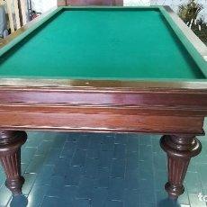 Juegos de mesa: MESA DE BILLAR DE CARAMBOLAS DE MADERA DE NOGAL. Lote 193992687