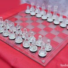 Juegos de mesa: AJEDREZ DE CRISTAL PROMOCIONADO POR KENWOOD MARCA OFICIAL AUTÉNTICA ORIGINAL. Lote 194080110