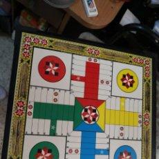 Juegos de mesa: TABLERO DE MADERA AJEDREZ / DAMAS Y PARCHIS AL DORSO, 34X34 CM. Lote 223048412