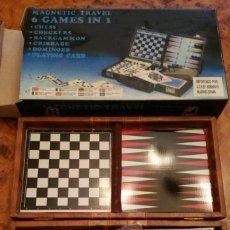 Juegos de mesa: MAGNETIC TRAVEL - 6 GAMES EN 1 - 6 JUEGOS EN 1 - COMPLETO Y EN BUEN ESTADO. Lote 194146208