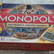 Juegos de mesa: JUEGO DE MESA MONOPOLY ELECTRONICO EDICIÓN MUNDIAL . Lote 194218043