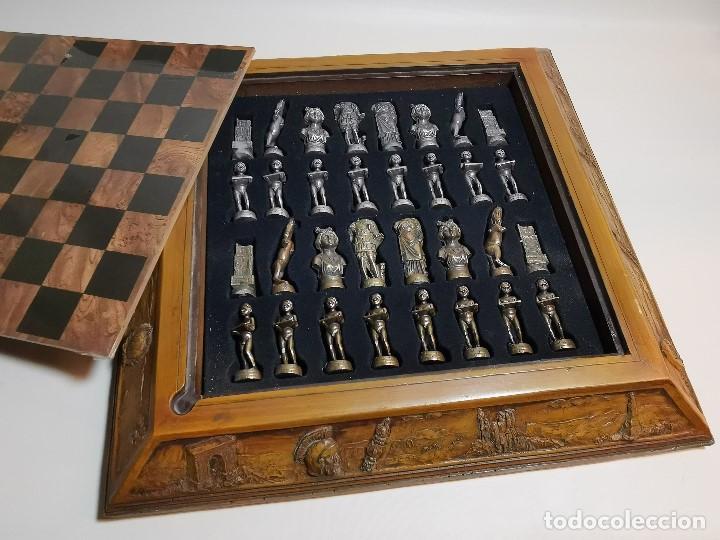 Juegos de mesa: Caja tablero de ajedrez. de Tarraco...Diari de Tarragona ..piezas metal -PRECINTADO AÑOS 90 - Foto 5 - 194228240