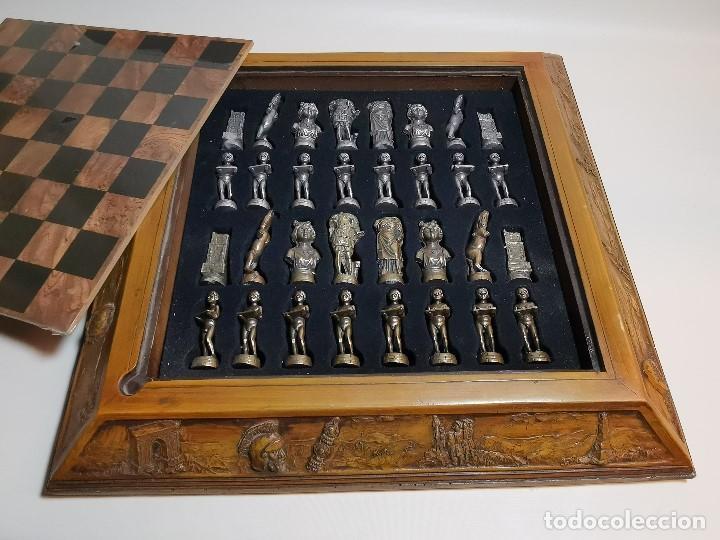 Juegos de mesa: Caja tablero de ajedrez. de Tarraco...Diari de Tarragona ..piezas metal -PRECINTADO AÑOS 90 - Foto 11 - 194228240