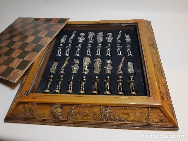Juegos de mesa: Caja tablero de ajedrez. de Tarraco...Diari de Tarragona ..piezas metal -PRECINTADO AÑOS 90 - Foto 14 - 194228240