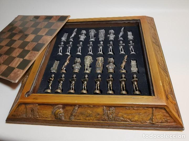 Juegos de mesa: Caja tablero de ajedrez. de Tarraco...Diari de Tarragona ..piezas metal -PRECINTADO AÑOS 90 - Foto 15 - 194228240