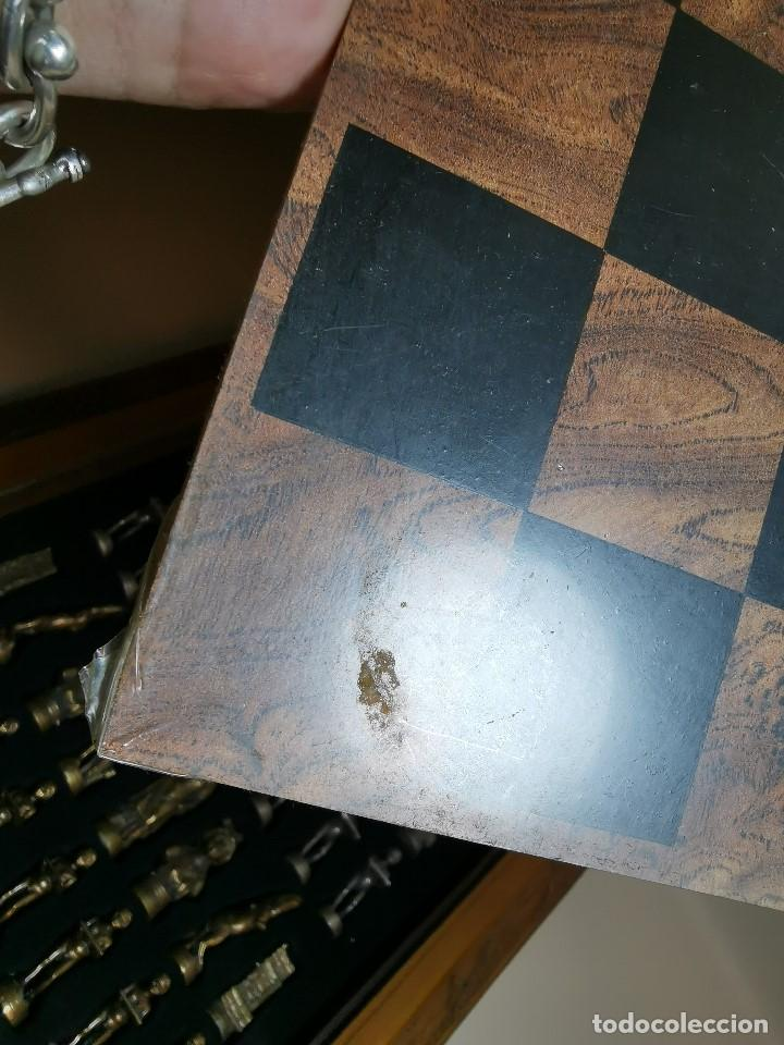 Juegos de mesa: Caja tablero de ajedrez. de Tarraco...Diari de Tarragona ..piezas metal -PRECINTADO AÑOS 90 - Foto 23 - 194228240