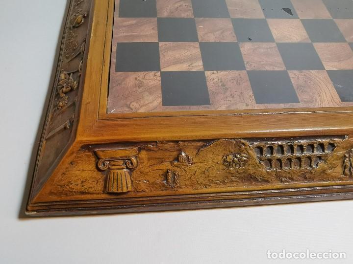 Juegos de mesa: Caja tablero de ajedrez. de Tarraco...Diari de Tarragona ..piezas metal -PRECINTADO AÑOS 90 - Foto 27 - 194228240