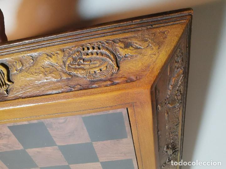 Juegos de mesa: Caja tablero de ajedrez. de Tarraco...Diari de Tarragona ..piezas metal -PRECINTADO AÑOS 90 - Foto 30 - 194228240