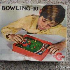 Juegos de mesa: BOWLING 10 CONGOST. Lote 194290991
