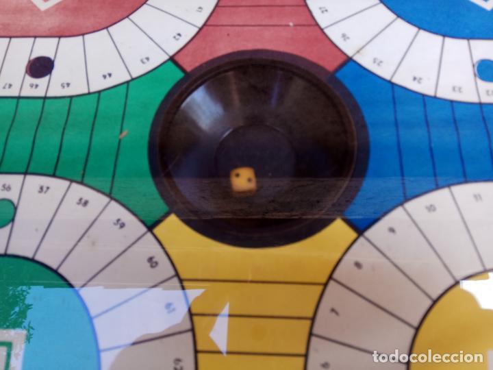Juegos de mesa: ANTIGUO PARCHIS DE BOTON MARCA REGISTRADA RIM FUNCIONANDO - Foto 4 - 194294353