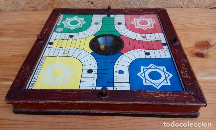 Juegos de mesa: ANTIGUO PARCHIS DE BOTON MARCA REGISTRADA RIM FUNCIONANDO - Foto 5 - 194294353