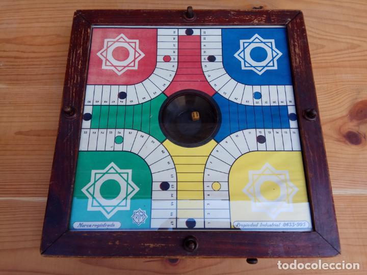 ANTIGUO PARCHIS DE BOTON MARCA REGISTRADA RIM FUNCIONANDO (Juguetes - Juegos - Juegos de Mesa)