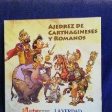Juegos de mesa: AJEDREZ CARTHAGINESES Y ROMANOS. LAVERDAD. Lote 194298096