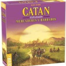 Juegos de mesa: CATAN EXP. MERCADERES Y BARBAROS - JUEGO DE MESA - NUEVO. Lote 194321282