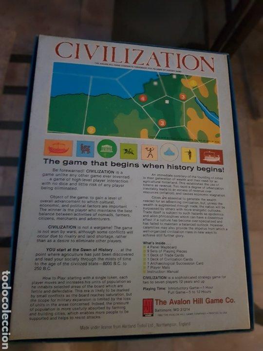 Juegos de mesa: CIVILIZATION Avalon Hill 1982 completo en muy buen estado - Foto 12 - 194322793