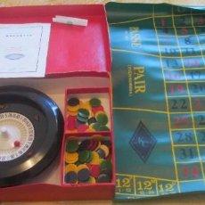 Juegos de mesa: JUEGO DE RULETA. FABRICACIÓN INGLESA, MARCA K&C. LA RULETA ES DE PASTA DURA Y MIDE 20,5CM. Lote 194400017