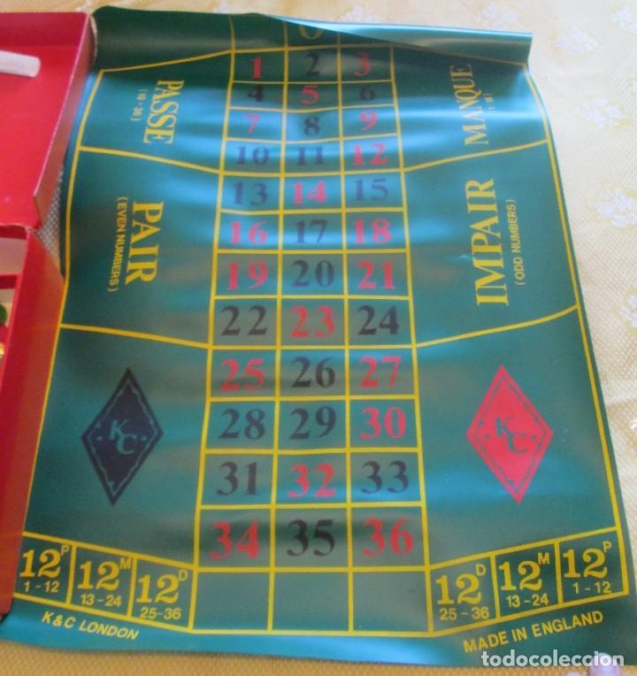 Juegos de mesa: Juego de ruleta. Fabricación inglesa, marca K&C. La ruleta es de pasta dura y mide 20,5cm - Foto 2 - 194400017