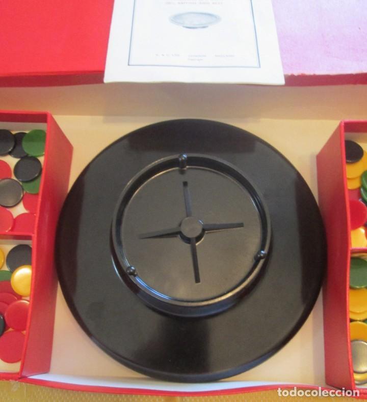 Juegos de mesa: Juego de ruleta. Fabricación inglesa, marca K&C. La ruleta es de pasta dura y mide 20,5cm - Foto 4 - 194400017