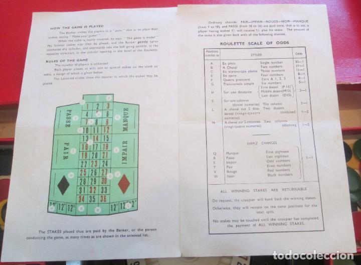 Juegos de mesa: Juego de ruleta. Fabricación inglesa, marca K&C. La ruleta es de pasta dura y mide 20,5cm - Foto 7 - 194400017