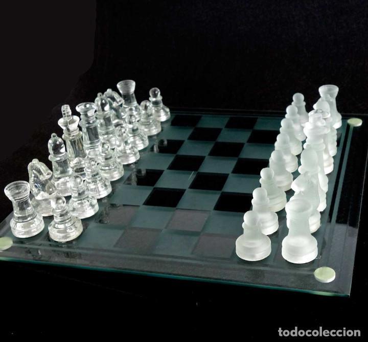Juegos de mesa: AJEDREZ DE CRISTAL CON CAJA - Foto 2 - 194526726