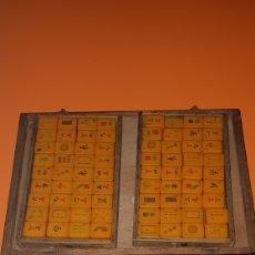 Juegos de mesa: JUEGO MAHJONG EN PVC AÑOS 50. Lote 194535560