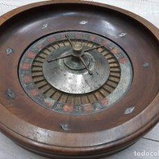 Juegos de mesa: ANTIGUA RULETA S.XIX ORIGINAL - NOGAL. Lote 194617563