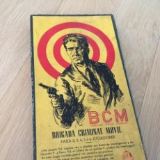 Juegos de mesa: BCM, BRIGADA CRIMINAL MOVIL DE F. ROSSELLO.. Lote 194637346