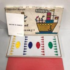 Juegos de mesa: JUEGO DE MESA SALTAR AL BARCO, BORRAS 1966. Lote 194725035