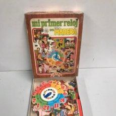 Juegos de mesa: MI PRIMER RELOJ EN MADERA. Lote 194726475