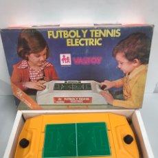 Juegos de mesa: JUEGO DE FUTBOL Y TENIS DE VALTOY ELECTRIC. Lote 194750912