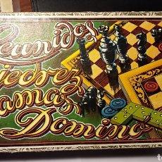 Juegos de mesa: ANTIGUO JUEGO REUNIDOS, AJEDREZ, DOMINÓ, DAMAS, ENRIQUE BORRÁS, MATARO, CATALUÑA, RARO, COMPLETO.. Lote 194755417
